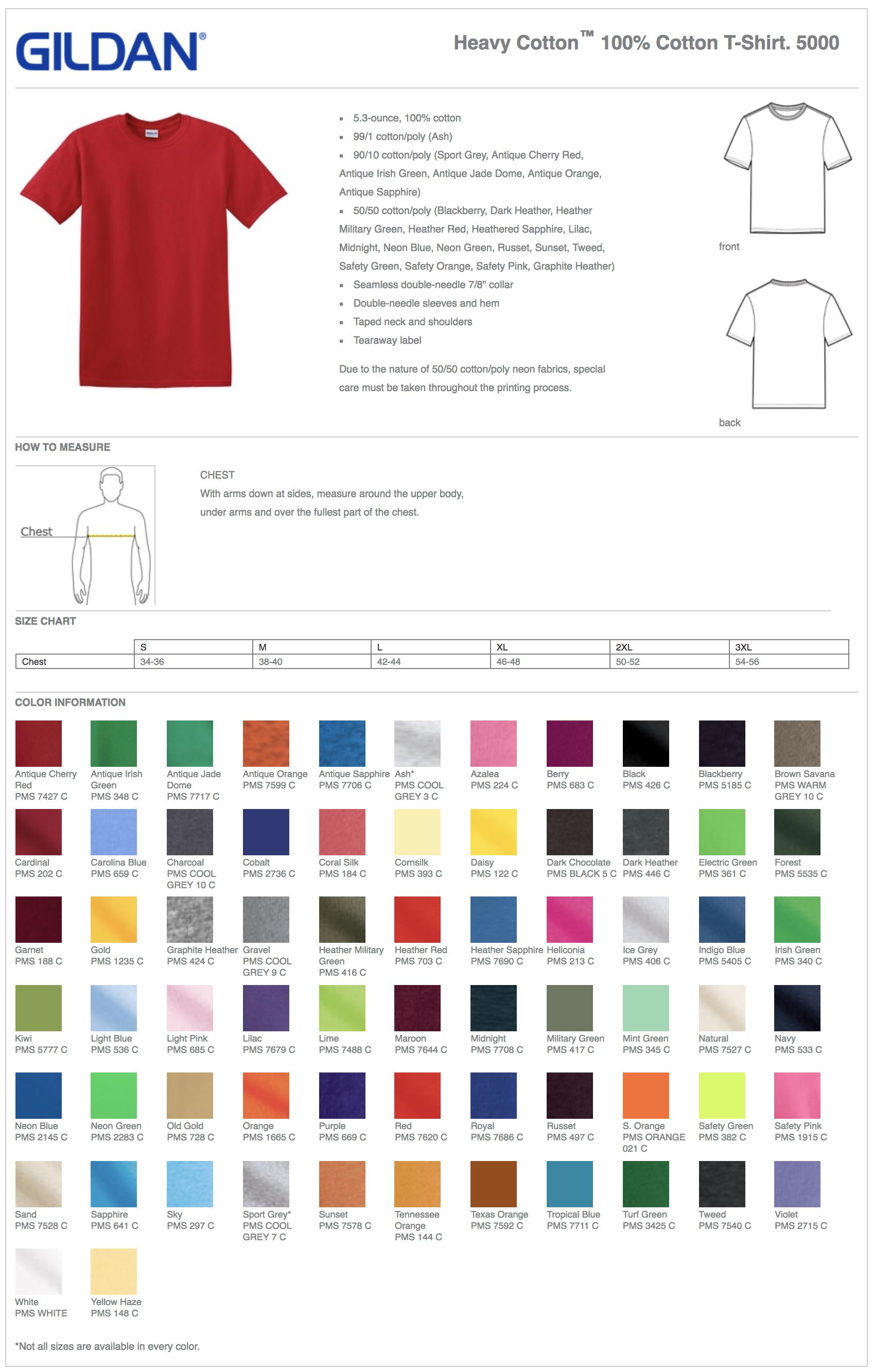 Gildan 5000 Custom T-Shirts